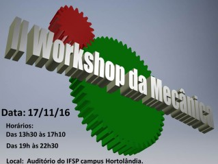 Banner do II Workshop de mecânica
